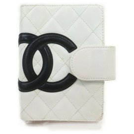 Chanel-White Quilted Cambon Ligne Small Ring Agenda-White