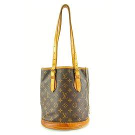 Louis Vuitton-Monogram Bucket Petite Bucket Bag-Brown
