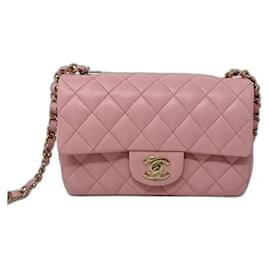 Chanel-chanel mini flap pink new summer 2021-Pink