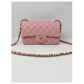 Chanel-chanel mini flap pink new summer-Rose