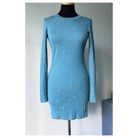 Chanel-Paris-Byzance Dress-Turquoise