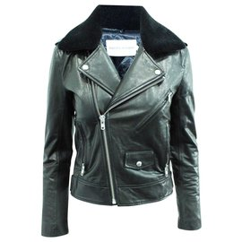 Rebecca Minkoff-Black Goatskin Jacket-Black