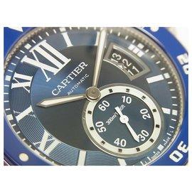 Cartier-CARTIER Calibre de Diver bleu WSCA0010 Aux femmes-Bleu