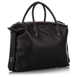 Givenchy-Givenchy Black Large Soft Antigona Leather Satchel-Black