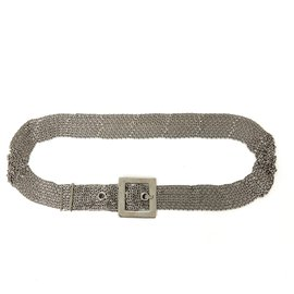 Chanel-9 ROWS SILVER CHAIN T85-Silvery