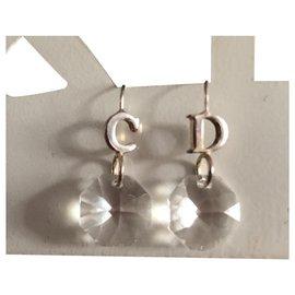 Dior-Boucles d'oreilles-Argenté
