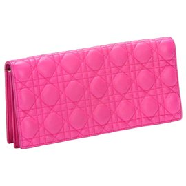 Dior-Dior Pink Cannage Chain Leather Crossbody Bag-Pink