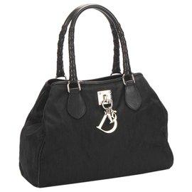 Dior-Dior Black Dior Oblique Lovely Nylon Handbag-Black