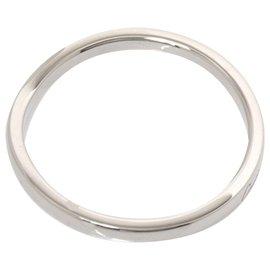 Cartier-Cartier Silver Platinum Ballerina Curve Ring-Silvery