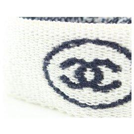 Chanel-White x Navy Gym Bracelet Sweat Band-Other
