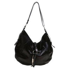 Saint Laurent-Dark Brown Leather Mombasa Shoulder bag-Other