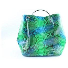Dior-Green Python ific Hobo 2WAY bag 3Dr01-Other