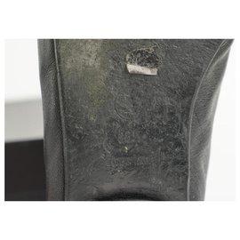 Chanel-Size 38.5 Black CC Ballerina Flats-Other