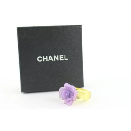 Chanel-01P Purple Camellia Flower Ring-Other