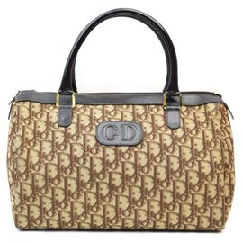 Dior-Rare Brown Monogram Trotter Boston Bag-Other