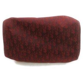 Dior-Bordeaux Monogram Trotter Boston Bag-Other