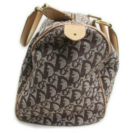 Dior-Brown Monogram Trotter Boston Duffle-Other