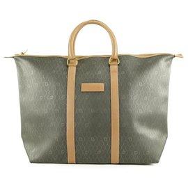 Dior-XL Black x Brown Monogram Trotter Honeycomb Tote Bag-Other