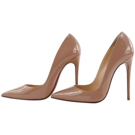 Christian Louboutin-Size 37 Nude Patent So Kate 120 Heels-Other