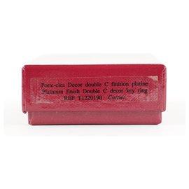 Cartier-Pendentif de sac à breloque clé avec logo argenté-Autre