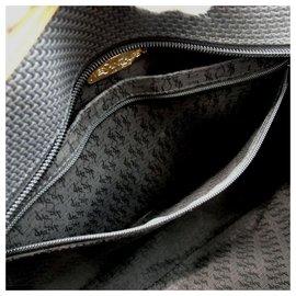 Saint Laurent-Black YSL Logo Studded Tote  Bag-Other
