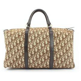 Dior-Brown Monogram Trotter Boston Duffle Bag-Other