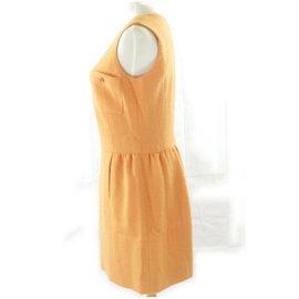 Chanel-Medium Orange Wool CC Dress-Other