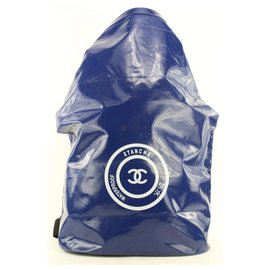 Chanel-Blue Waterproof CC Sports Jumbo Backpack-Other