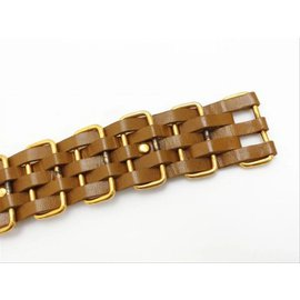 Chanel-Ultra Rare Brown x Gold 5 Layer Interlaced Chain Belt-Other
