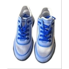 Chanel-sz 41 19P Mesh Blue Sneaker CC Logo White G34763 6C0-Other