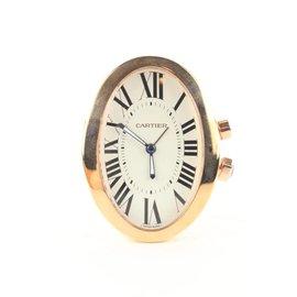 Cartier-réf 3111 18k Montre-réveil Baignoire plaquée or rose-Autre