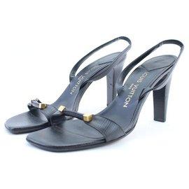Louis Vuitton-sz38 Epi Strappy Heels-Other