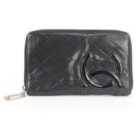 Chanel-Large Black Quilted Cambon Ligne Zip Around Organizer Wallet-Other