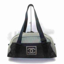 Chanel-Bicolor Sports Logo CC Boston Duffle-Other