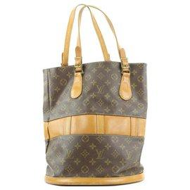 Louis Vuitton-French Co USA Monogram Marais Bucket GM Tote Bag-Other