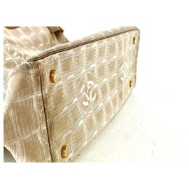 Chanel-Beige New Line Tote GM Shopper 3C858-Other