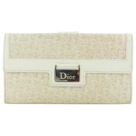 Dior-Beige Monogram Trotter Long Flap Wallet-Other