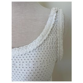 Chanel-chanel knit dress 36 38-White