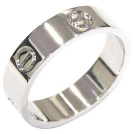 Cartier-Cartier Silver 18K Love Ring-Silvery