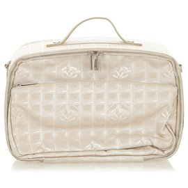 Chanel-Chanel Brown New Travel Line Travel Bag-Brown,Beige