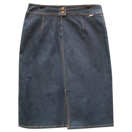 Burberry-Skirts-Navy blue
