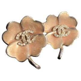 Chanel-Earrings-Silvery,Pink