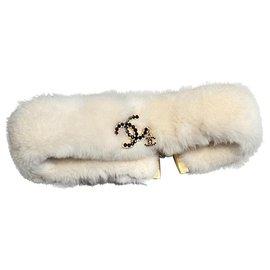Chanel-Scarves-Beige,Gold hardware