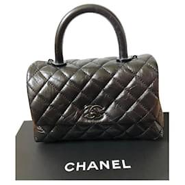Chanel-Bolsa de alça pequena Chanel So Black Coco-Preto