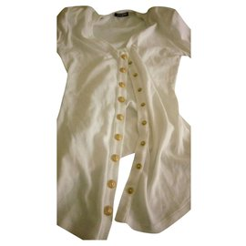 Balmain-Balmain top cardigan-White