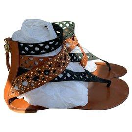 Casadei-Sandals-Brown,Black