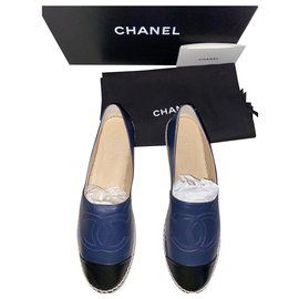 Chanel-Beautiful classic Chanel espadrille-Dark blue