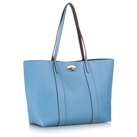 Mulberry-Mulberry Blue Bayswater Leather Tote Bag-Blue,Light blue