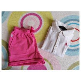 Ralph Lauren-LOGO-Pink,White