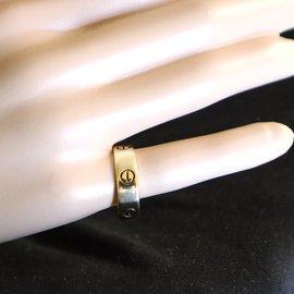 Cartier-cartier 18k Yellow Gold Love Wedding Ring Size 61-Golden